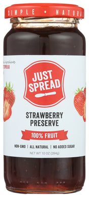 JUST SPREAD: Strawberry Preserve Spread, 10 oz - Vending Business Solutions