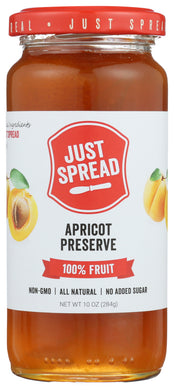 JUST SPREAD: Apricot Preserve Spread, 10 oz - Vending Business Solutions