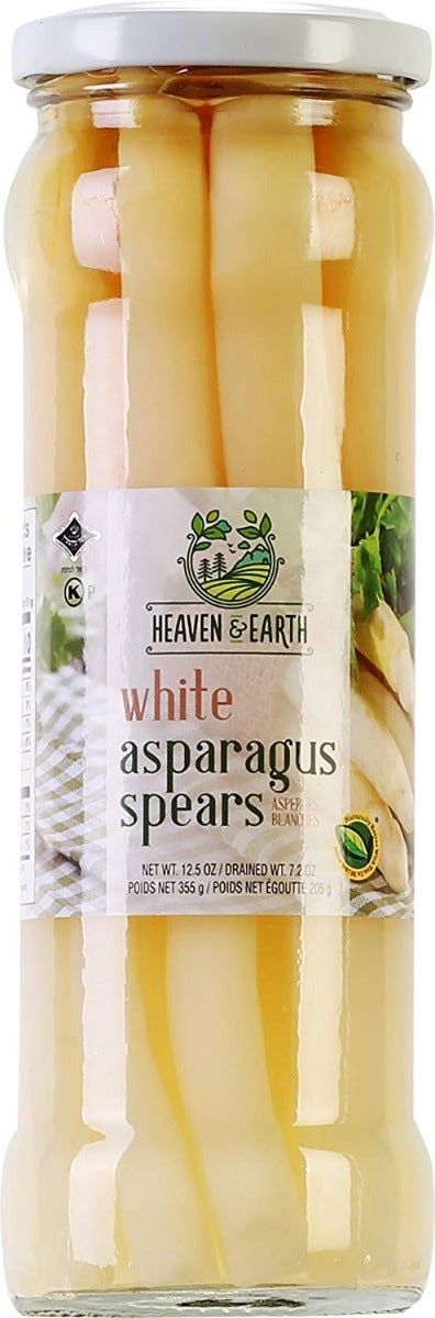 HEAVEN AND EARTH: White Asparagus Spears, 12.5 oz - Vending Business Solutions