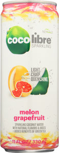 COCO LIBRE: Sparkling Coconut Water Melon Grapefruit, 11 fl oz - Vending Business Solutions