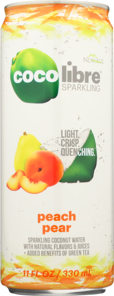 COCO LIBRE: Sparkling Coconut Water Peach Pear, 11 fl oz - Vending Business Solutions