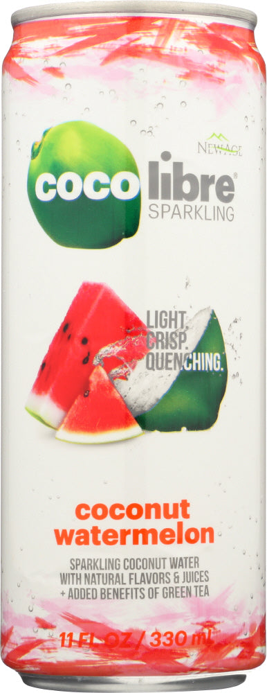 COCO LIBRE: Sparkling Coconut Water Coconut Watermelon, 11 fl oz - Vending Business Solutions