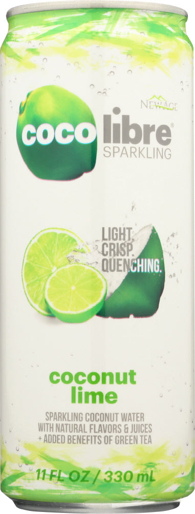 COCO LIBRE: Sparkling Coconut Water Coconut Lime, 11 fl oz - Vending Business Solutions
