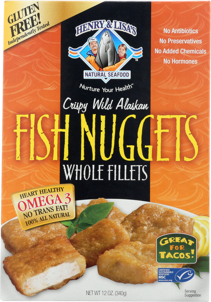 HENRY & LISAS: Crispy Wild Alaskan Fish Nuggets Whole FIllets, 12 oz - Vending Business Solutions