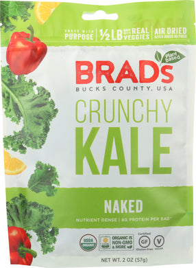 BRADS PLANT BASED: Crunchy Kale Naked, 2 oz - Vending Business Solutions