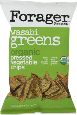 FORAGER: Organic Chips Vegetable Wasabi Greens, 5 oz - Vending Business Solutions