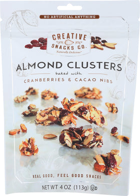 CREATIVE SNACKS: Almond Cluster Nuts Cranberry And Cacao, 4 oz - Vending Business Solutions