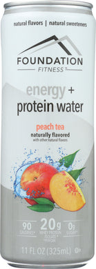 FOUNDATION FITNESS: Energy & Protein Water Peach Tea, 11 oz - Vending Business Solutions