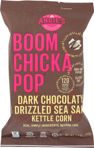 ANGIES: Boomchickapop Dark Chocolaty Drizzled Sea Salt Kettle Corn, 5.5 oz - Vending Business Solutions