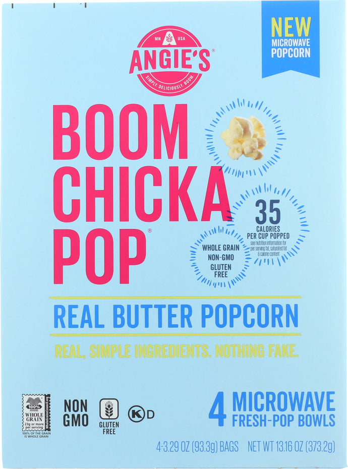 ANGIES: Real Butter Microwave Popcorn, 13.16 oz - Vending Business Solutions