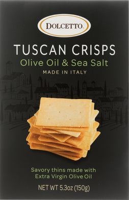 DOLCETTO: Tuscan Crisps Olive Oil & Sea Salt, 5.3 oz - Vending Business Solutions