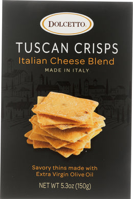 DOLCETTO: Tuscan Crisps Italian Cheese Blend, 5.3 oz - Vending Business Solutions