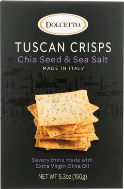 DOLCETTO: Crisps Tuscan Chia Sea Salt, 5.3 oz - Vending Business Solutions