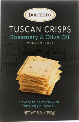 DOLCETTO: Dolcetto Rosemary + Olive Oil Tuscan Crisps, 5.3 oz - Vending Business Solutions