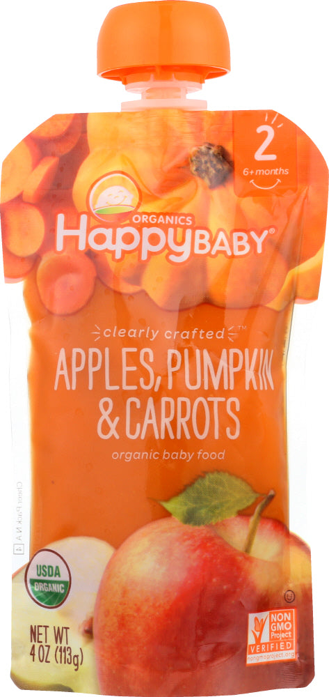 HAPPY BABY: S2 Apple Pumpkin Carrot Organic, 4 oz - Vending Business Solutions