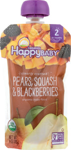 HAPPY BABY: S2 Pear Squash Blackberry Organic, 4 oz - Vending Business Solutions