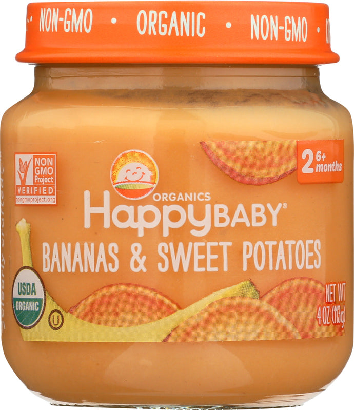 HAPPY BABY: Stage 2 Bananas and Sweet Potatoes, 4 oz - Vending Business Solutions