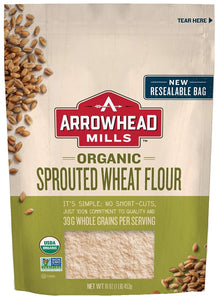 ARROWHEAD MILLS: Organic Sprouted Wheat Flour, 16 oz - Vending Business Solutions