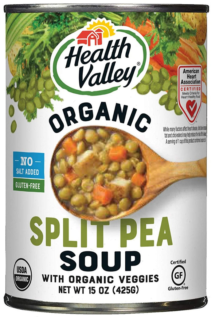 HEALTH VALLEY: No Salt Organic Split Pea Soup, 15 oz - Vending Business Solutions