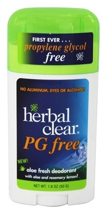HERBAL CLEAR: Deodorant Stick Aloe Fresh PG Free, 1.8 oz - Vending Business Solutions