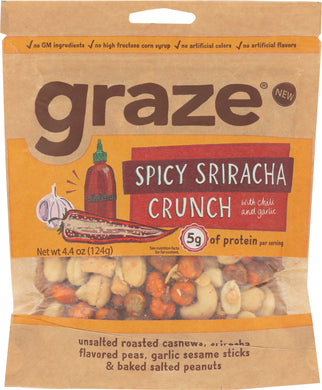 GRAZE: Snack Spicy Sriracha Crunch, 4.4 oz - Vending Business Solutions