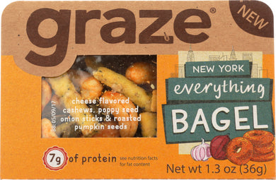 GRAZE: Snack New York Everything Bagel Sesame Stick, 1.3 oz - Vending Business Solutions