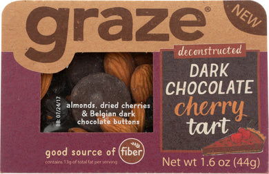 GRAZE: Snack Dark Chocolate Cherry Tart S, 1.6 oz - Vending Business Solutions