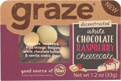 GRAZE: Snack White Chocolate Raspberry Cheesecake, 1.2 oz - Vending Business Solutions