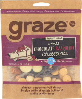 GRAZE: Snack White Chocolate Raspberry Cheesecake, 3.7 oz - Vending Business Solutions