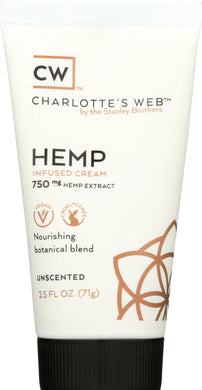 CHARLOTTES WEB: Cream Hemp Infused Unscented, 2.5 oz - Vending Business Solutions