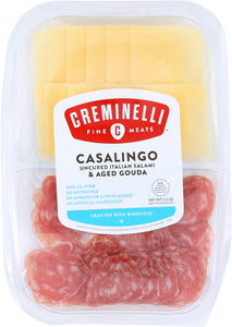 CREMINELLI FINE MEATS: Casalingo Salami with Gouda Cheese, 2.2 oz - Vending Business Solutions