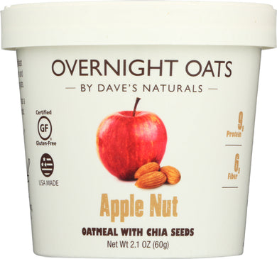 DAVES GOURMET: Oats in Cup Apple Nut, 2.1 oz - Vending Business Solutions