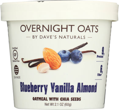 DAVES GOURMET: Oats in Cup Blueberry Vanilla Almond, 2.1 oz - Vending Business Solutions