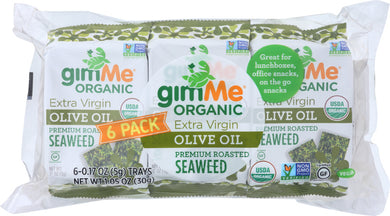 GIMME: Organic Premium Roasted Seaweed Extra Virgin Olive Oil 6x0.17oz, 1.05 oz - Vending Business Solutions