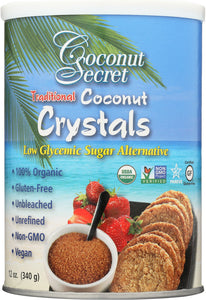 COCONUT SECRET: Raw Coconut Crystals, 12 Oz - Vending Business Solutions