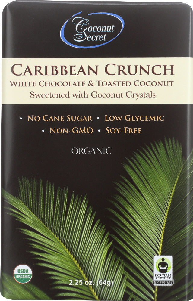 COCONUT SECRET: Organic Caribbean Crunch White Chocolate & Toasted Coconut, 2.25 oz - Vending Business Solutions