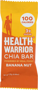 HEALTH WARRIOR: Banana Nut Chia Bar, 0.88 oz - Vending Business Solutions