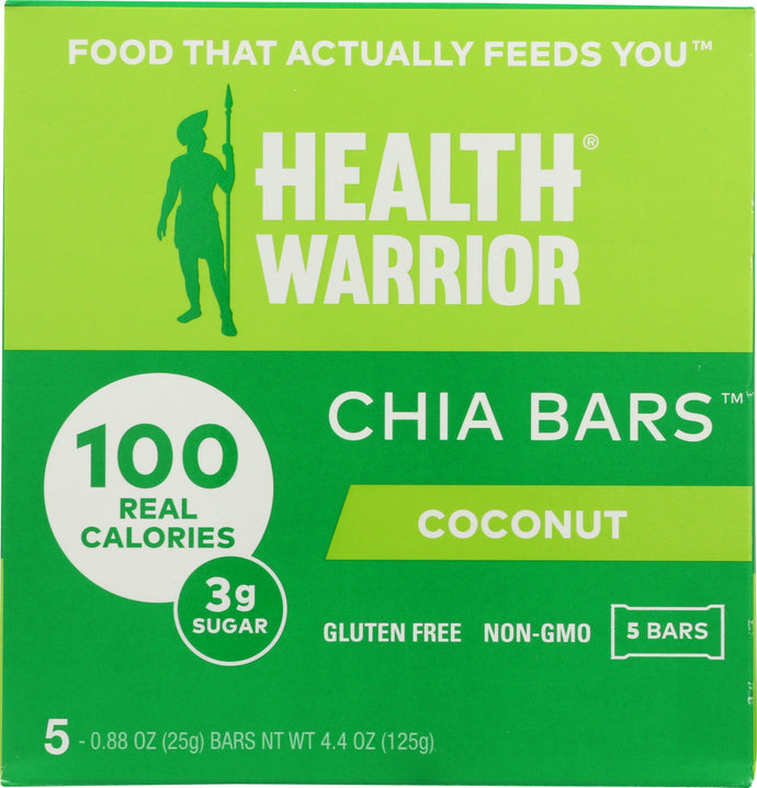 HEALTH WARRIOR: Coconut Chia Bar, 4.40 oz - Vending Business Solutions