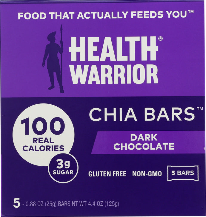 HEALTH WARRIOR: Dark Chocolate Chia Bar 5 Count, 4.40 oz - Vending Business Solutions