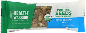 HEALTH WARRIOR: Organic Honey Sea Salt Pumpkin Seed Bar, 1.23 oz - Vending Business Solutions