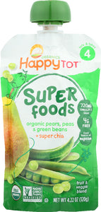 HAPPY TOT ORGANIC SUPERFOODS: Green Bean Pear and Pea, 4.22 oz - Vending Business Solutions