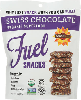 FOODIE FUEL: Super Snacker Crisps Swiss Chocolate, 4 oz - Vending Business Solutions