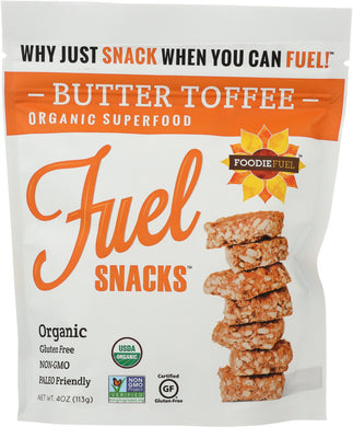 FOODIE FUEL: Super Snacker Crisps Butter Toffee, 4 oz - Vending Business Solutions