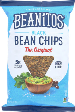 BEANITOS: Original Black Bean Chips with Sea Salt, 5 oz - Vending Business Solutions