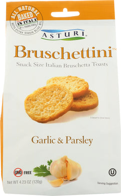 ASTURI: Bruschettini Garlic & Parsley, 4.23 oz - Vending Business Solutions