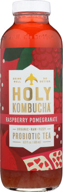 HOLY KOMBUCHA: Raspberry Pomegranate Probiotic Tea, 16.9 oz - Vending Business Solutions