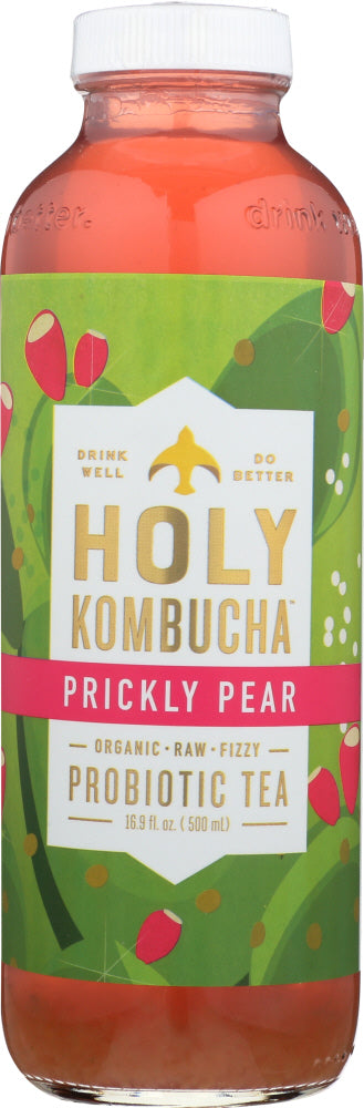 HOLY KOMBUCHA: Prickly Pear Probiotic Tea, 16.9 oz - Vending Business Solutions