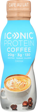 ICONIC: Protein Drink Cafe Au Lait, 11.5 fl oz - Vending Business Solutions