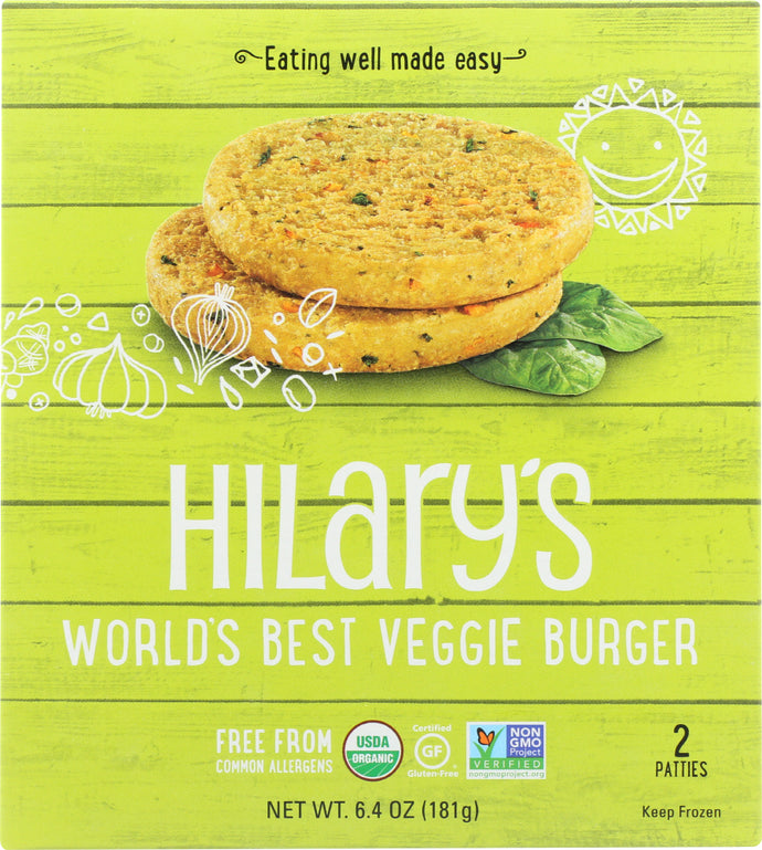 HILARY'S EAT WELL: Worlds Best Veggie Burger, 6.4 oz - Vending Business Solutions