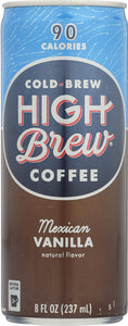 HIGH BREW: Cold-Brew Coffee Mexican Vanilla, 8 oz - Vending Business Solutions